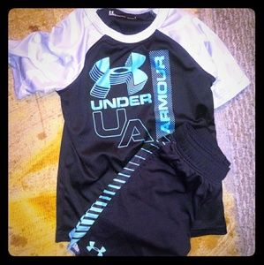 Boys UNDER ARMOUR shorts set